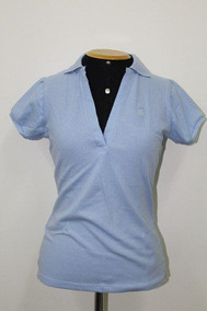be4fcb9f32 Camisa Gola Polo Feminina Azul Polo Wear Originl P0000477230