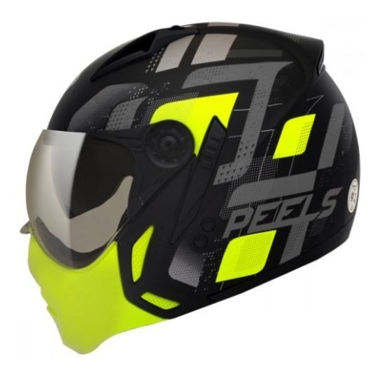 Capacete Moto Peels Mirage Echo C Oculos Preto