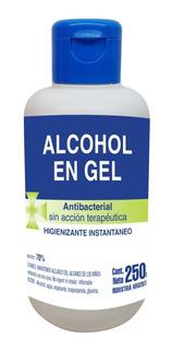 Alcohol En Gel Sanitizante Al 70% X 250 Ml X 12 Unidades