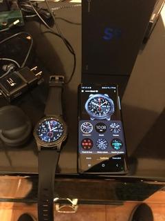 Celular Samsung Galaxy Negro 64 Gb + Reloj S3 Gears Frontier