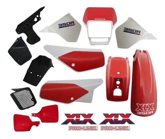 Kit Carenagem Adesivado Xlx 350 Branca 89 - 13 Peças