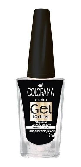 Esmalte Colorama Gel Mais Que Preto, Black 8ml