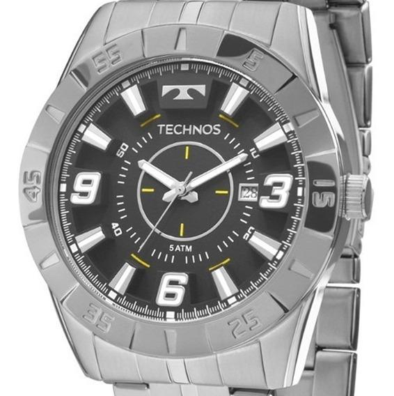 Relógio Technos Masculino Prata Grande Garantia Original