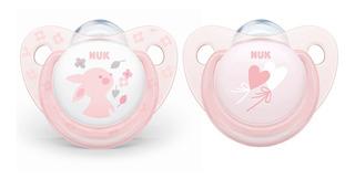 Chupos Entretención Baby Rose X2 Talla1 Nuk N10730048 Rosa