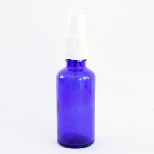 10 Vidro Ambar Azul 50 Ml Tampa Spray Perfume Formulas
