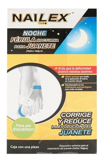 Férula Nocturna Nailex Para Juanete Pie Izquierdo 1 Pza