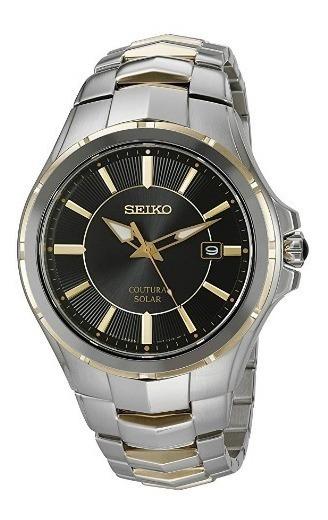 Relógio Seiko Coutura Solar Prata/preto/dourado Original