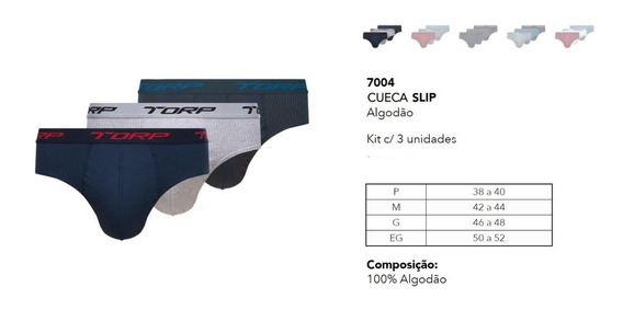 Kit 12 Cueca Torp Slip Algodão Cós Personalizado Torp