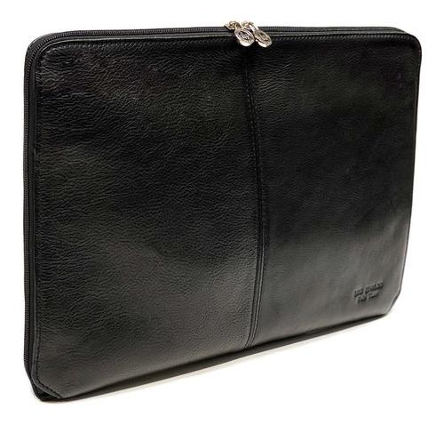 Carpeta Con Cierre Oficio Cuero Funda Porta Notebook 15.6