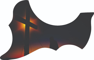 Escudo Palheteira Resinada Violão Aço Folk Sônica Cross