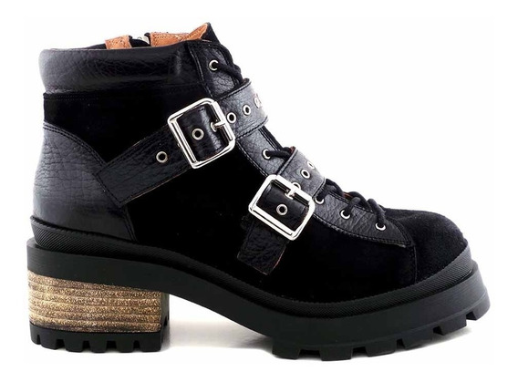 Borcego Mujer Cuero Briganti Bota Botineta Zapato Mcbo24850