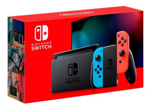 Imagen 1 de 4 de Consola Nintendo Switch Neon 32gb Control