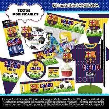 Kit Imprimible Barcelona Cotillon Imprimible