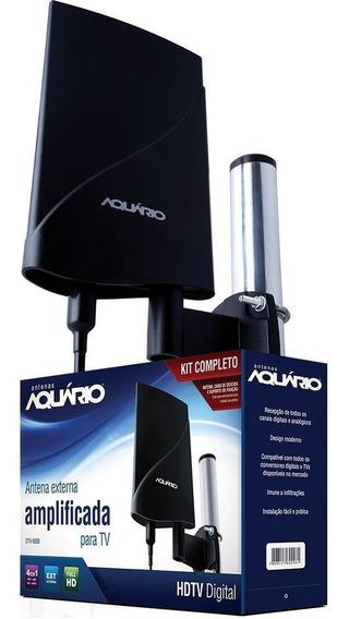 Antena Externa Amplificada Para Tv 4 Em 1 Dtv-5600 Aquario