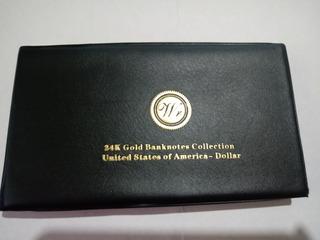 13 Billetes Baño Oro Con Certificado!! Coleccion 24k .