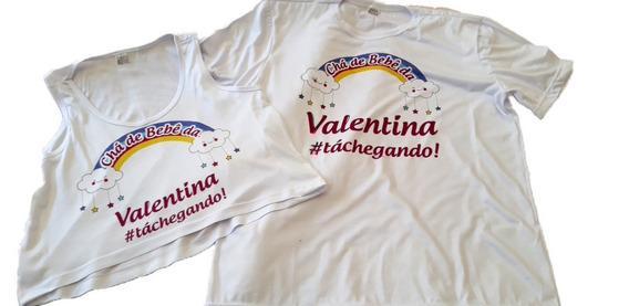 Kit 3 Camisetas Chá De Bebê Príncipes Princesas