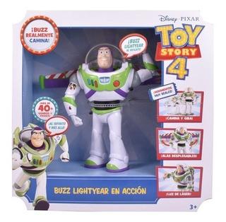Toy Story 4 - Buzz Lightyear En Acción (camina, +40 Sonidos
