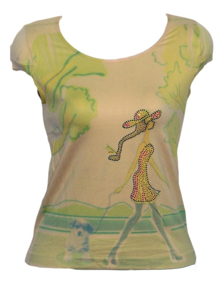 Franelas Blusas Estampadas Multicolor Para Damas
