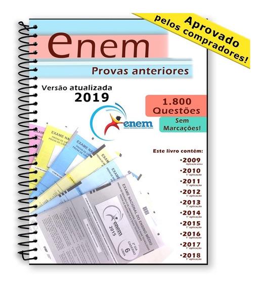 Enem 2019 Provas Edições Anteriores 2009 Até 2018 + Gabarito