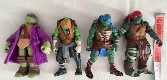 Kit Personagens Tartarugas Ninja - Bonecos Com 13cm