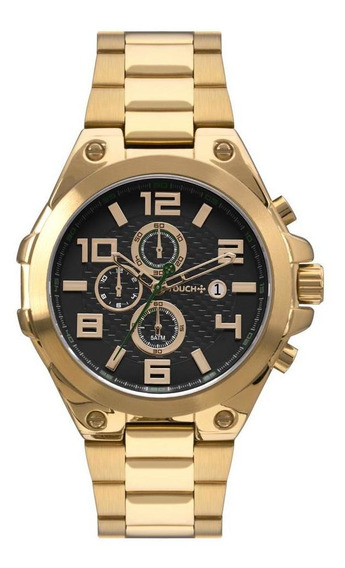 Relógio Touch Masculino Dourado Twos1aaa/4p