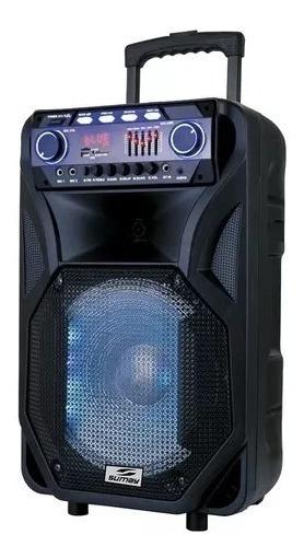 Caixa De Som Amplificada 2 Microfone Bateria Bluetooth