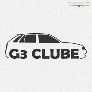 Kit 2x Adesivo Clube Do Gol G3 3ª Geração Carro 15cm A170