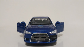 Miniatura Lancer Evolution X Azul Kinsmart 1/36