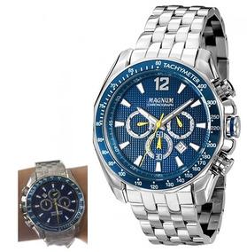 Relógio Magnum Cronógrafo Ma33586f Azul