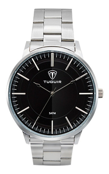 Relógio Masculino Tuguir Prata Promoção Original Dj0062