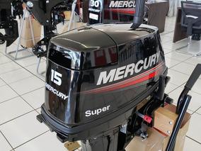 Motor Popa Mercury 15 Hp Super Na Caixa 0km 2019 Promoção