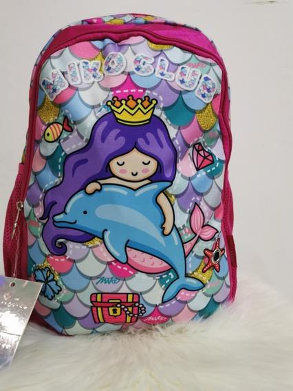 Mochila Escolar, Viaje Princesa Sirena Para Niña Miko Club