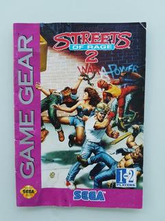 Manual Street Of Rage 2 Game Gear Original - Frete Grátis