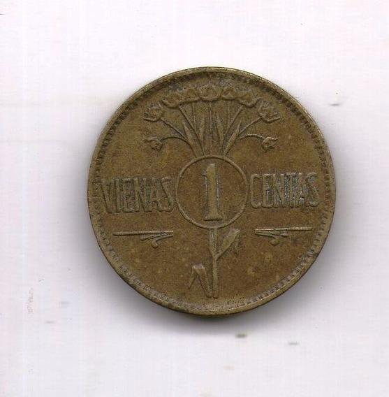 Lituania Moneda 1925 1 Centas Km#71 - Argentvs