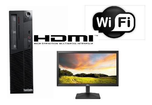 Lenovo M73 I3-4130 8gb+mon 20 Wifi-12 Cuotas Contado