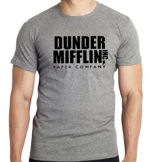 Camiseta The Office Dunder Miffilin Camisa Série Seriado