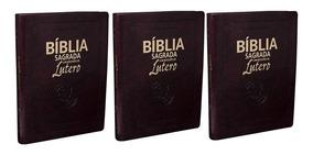 Kit Com Três Bíblias Com Reflexões De Lutero Tamanho Grande