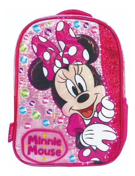 Mochila Minnie Disney Original Jardin C/ Luz 12 Km207 Maple