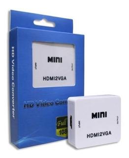 Convertidor Hdmi A Vga Activo Audio 3.5mm Adaptador