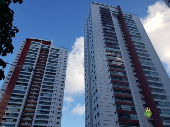 Apartamento Com 4 Dormitórios À Venda, 134 M² Por R$ 980.000 - Greenville - Salvador/ba - Ap0812