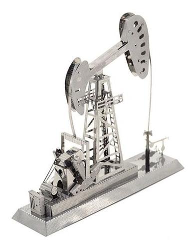Torre Petrolera Rompecabezas Metálico 3d En Stock! Envío Ya!