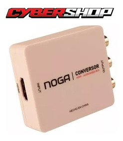 Adaptador Conversor Hdmi A Rca Audio Video Smart Tv Ps3 Noga