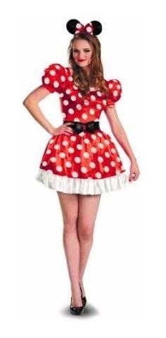 Red Minnie Mouse Del Traje Clásico De La Mujer Disfraz