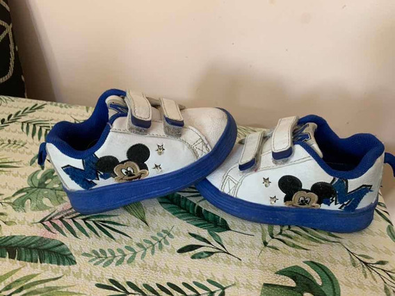 Zapatillas Addnice Mickey Con Luces Talle 22
