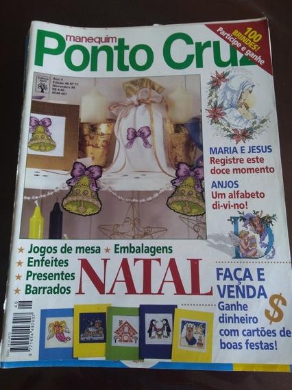 Kit 10 Revistas Manequim Ponto Cruz Temas Variados.