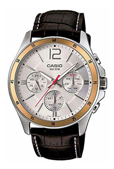 Casio Enticer Cronógrafo Esfera Blanca Reloj