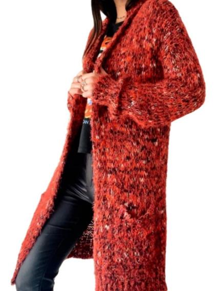 Saco Mujer Largo Lana Abrigado Diseño Calidad Moda 2020