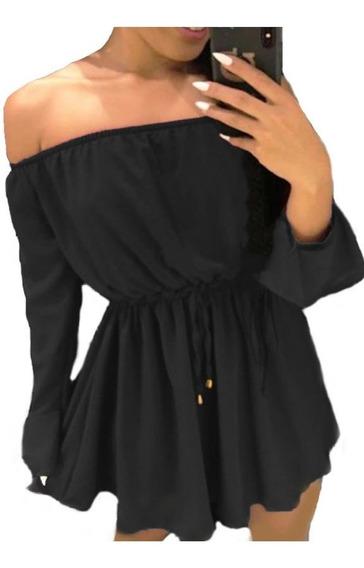 Vestido Ciganinha Feminino Curto Rodado Soltinho Decotado