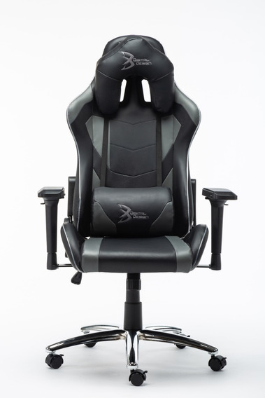 Silla Gamer Rgb Digital Design Master Negro/gris