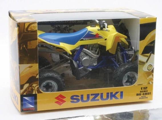 Moto A Escala Cuatriciclo Suzuki Quadracer R450 1:12 Newray